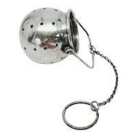 Vintage Liebs Silver Co Sterling Silver Cauldron Tea Strainer/Infuser