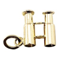 Vintage 14 Karat Yellow Gold Retractable Binoculars Charm