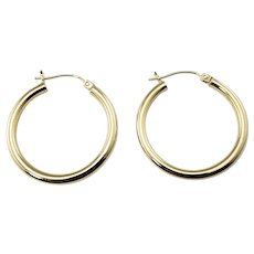 Vintage 14 Karat Yellow Gold Hoop Earrings