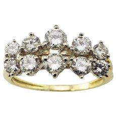Vintage 18 Karat Yellow Gold and Diamond Ring Size 7.5