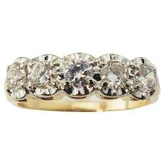 Vintage 14 Karat Yellow Gold and Diamond Ring Size 6.5