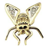 Vintage 18 Karat Yellow Gold and Diamond Fly Pin/Brooch