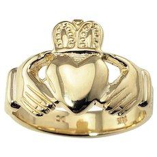 Vintage 14 Karat Yellow Gold Claddagh Ring Size 7.75