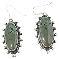 Native American Running Bear Shop Sterling Silver Turquoise Earrings