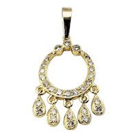 Vintage 18 Karat Yellow Gold and Diamond Pendant