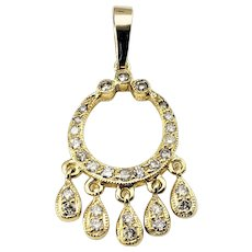Vintage 18 Karat Yellow Gold and Diamond Pendant