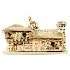 Vintage 14 Karat Yellow Gold House Charm