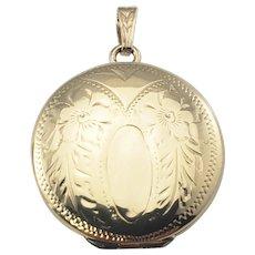 Vintage 10 Karat Yellow Gold Locket Pendant