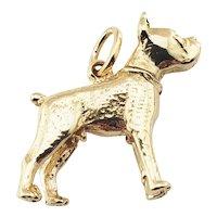 Vintage 14 Karat Yellow Gold Boxer Dog Bobblehead Charm