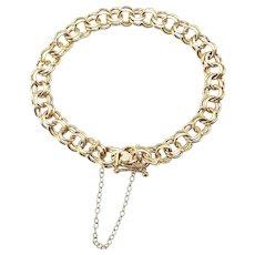 Vintage 14 Karat Yellow Gold Charm Bracelet