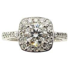 Vintage Platinum Diamond Engagement Ring Size 6 GAI Certified