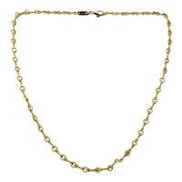 Vintage Tiffany & Co 18 Karat Yellow Gold Link Necklace