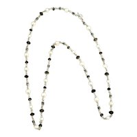 Michael Dawkins Sterling Silver Pearls and Smokey Topaz Necklace
