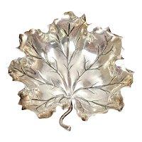 Buccellati Italy Sterling Silver Small Oak Leaf Dish