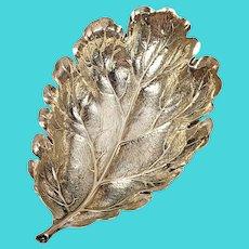 Buccellati Italy Sterling Silver Small Geranium Leaf Dish
