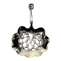Whiting Sterling Silver Small Bon Bon Spoon with Monogram