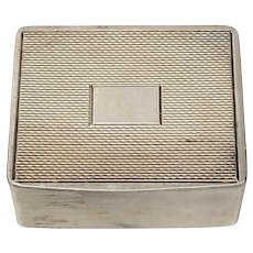 Vintage Dingley Bros Birmingham England Small Sterling Silver Pill Box