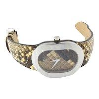 Bertolucci Serena Stainless Steel Snakeskin Ladies Watch Quartz
