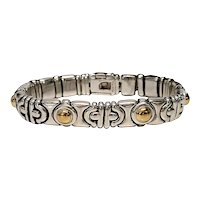 Italian Sterling Silver with Yellow Gold Accent Bracelet