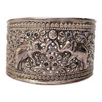 Samuel Benham BJC Sterling Silver Elephant Bangle Bracelet