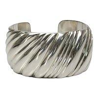 Vintage Tiffany & Co Sterling Silver Wide Cuff Bracelet