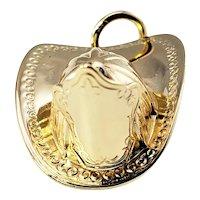 Vintage 14 Karat Yellow Gold Fireman's Helmet Charm