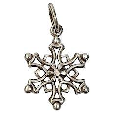 Tiffany & Co Sterling Silver Snowflake Pendant