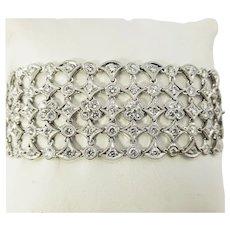 Vintage 18 Karat White Gold and Diamond Bracelet
