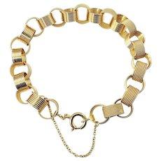 Vintage 18 Karat Yellow Gold Link Bracelet