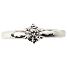 Vintage 14 Karat White Gold/Platinum Diamond Engagement Ring Size 7