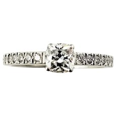 Vintage Tiffany & Co. Platinum and Diamond Engagement Ring Size 5.5