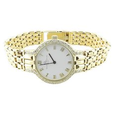 Baume & Mercier Classique 14K Yellow Gold Diamond Ladies Watch