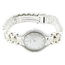 Ebel Beluga 18K White Gold Diamond Mother of Pearl Ladies Watch
