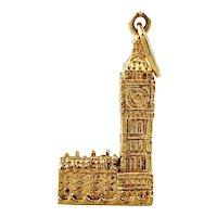 Vintage 14K Yellow Gold Big Ben Charm