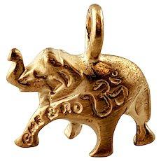 Vintage 14K Yellow Gold Me & Ro Elephant Charm