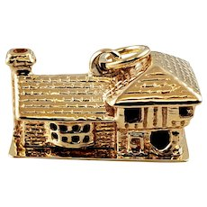 Vintage 14K Yellow Gold House Charm