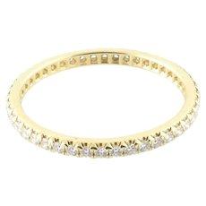 Tiffany & Co. 18K Yellow Gold Diamond Full Eternity Band Size 7 w/box