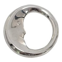 Tiffany & Co Sterling Silver Man In The Moon Teether Rattle