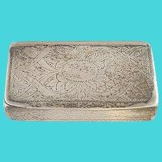 Antique Birmingham England Edward Smith Sterling Silver Trinket/Snuff Box