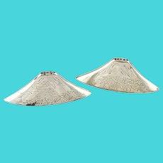 Japanese 950 Sterling Silver Mount Fuji Salt & Pepper Shakers