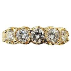 Vintage 14 Karat Yellow Gold Diamond Wedding Band Size 6