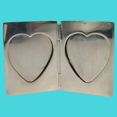 Vintage Tiffany & Co Sterling Silver Travel Folding Frame Heart Opening