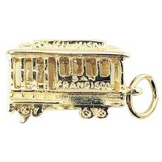 Vintage 14 Karat Yellow Gold Powell Mason San Francisco Cable Car Charm
