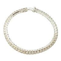 Vintage 14 Karat White Gold Diamond Tennis Bracelet 1.71 TCW