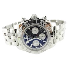 2020 Breitling Chronomat 44 Men's Stainless Watch Black Dial Automatic AB011012