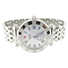 Michele Caber Diamond MOP Stainless Steel Mother of Pearl Ladies Watch MW16A01H6025