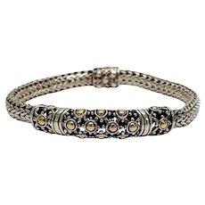 John Hardy Sterling Silver 18K Yellow Gold Dot Jaisalmer Bracelet