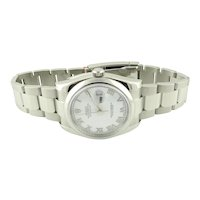 2015 Rolex Men's Datejust 116200 Steel Watch White Roman Dial with Box and Papers