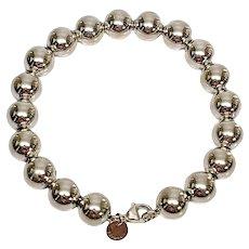Tiffany & Co Sterling Silver 10mm Ball Bracelet