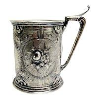 Antique Gorham Coin Silver Child Mug